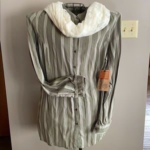 Olive Button Down Tunic